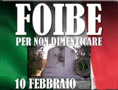 10 febbraio giorno ricordo delle foibe